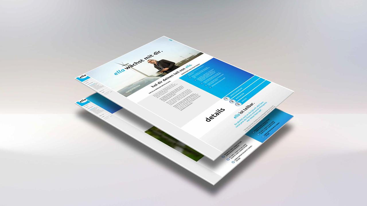 ELLA AG Website, Mockup mit Teilansicht Bürgerbeteiligung