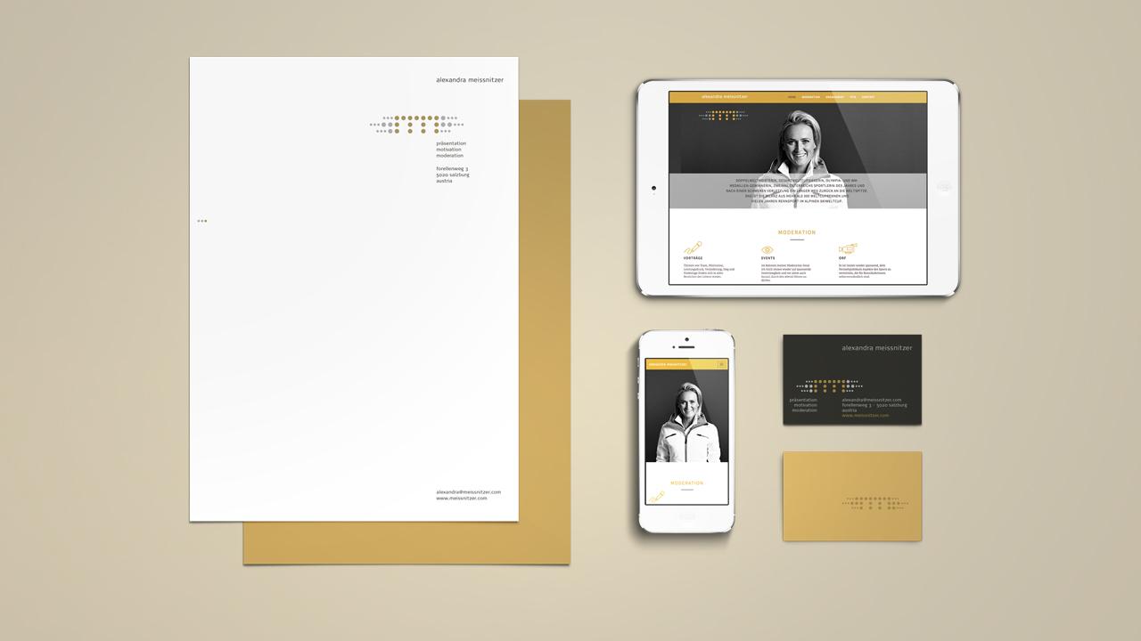 Alexandra Meissnitzer Corporate Design Beispiele von oben
