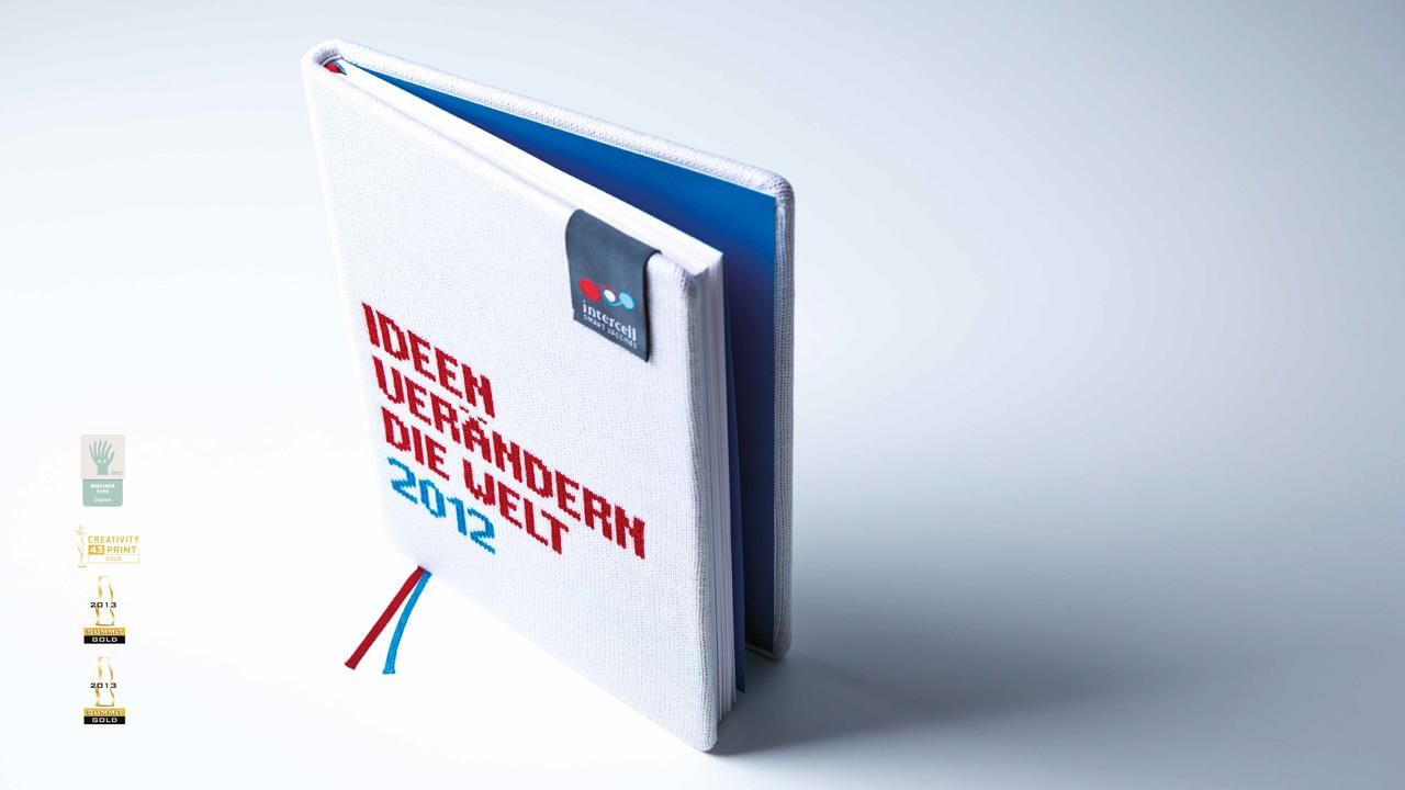 Intercell AG Geschäftsbericht 2012Einband gestrickt von schräg oben gesehen