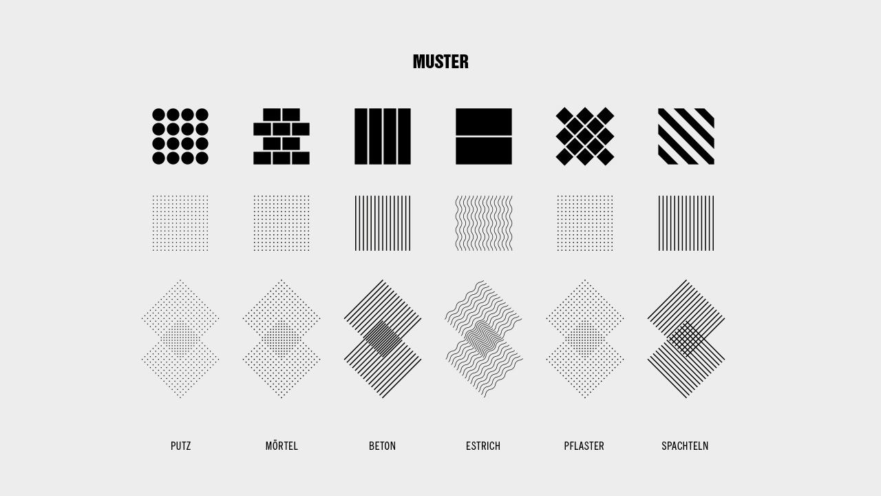 Quarzolith Packungsdesign: Muster und Strukturen